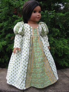 American Girl doll  Renaissance gown by ExquisitelyUpcycled, $40.00
