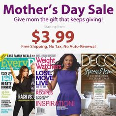 Magazine Subscription Blowout Sale : As low as $3.99/year. Save up to 89% off the cover price!