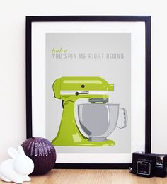 Kitchen Aid Baby You Spin Me Right Round A3 Poster by ohdearmolly, $19.00