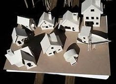 Putz houses are a pretty popular old fashioned decoration for the holidays. Here are some templates online (linked below) for several different styles. All Things Christmas, Christmas Home, Vintage Christmas, Christmas Holidays, Christmas Decorations, Putz Houses, Fairy Houses, Village Houses, Carton Diy