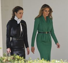Even the ever stylish Queen Rania of Jordan appeared to be mirroring Melania in an outfit...