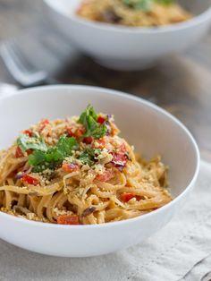 Simple Thai Peanut Noodle Stir Fry (GF)