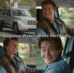 The Fault in our Stars - Augustus Waters - Hazel Grace - Ansel Elgort - Shailene Woodley Star Quotes, Movie Quotes, Funny Quotes, This Is A Book, Love Book, Fault In The Stars, Hazel Grace Lancaster, Tfios, Divergent Quotes