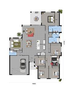 The Blue Wattle - Floorplan bathroom area