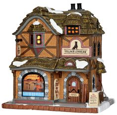 Lemax Village Cobbler SKU# 55930. Released in 2015 as a Lighted Building for the Caddington Collection.