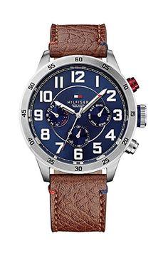 Tommy Hilfiger Watches Herren-Armbanduhr Analog Quarz Leder 1791066