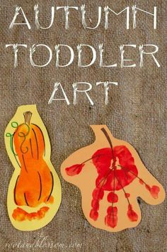 Rootandblossom: Autumn (Toddler Created) Banner - Handprint leaf and footprint s. - Rootandblossom: Autumn (Toddler Created) Banner – Handprint leaf and footprint squash - Daycare Crafts, Baby Crafts, Crafts To Do, Infant Crafts, Daycare Rooms, Leaf Crafts, Fall Preschool, Preschool Crafts, Kids Crafts