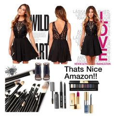 """""""That's Nice Amazon Contest!"""" by consuelor ❤ liked on Polyvore featuring Yves Saint Laurent, Bobbi Brown Cosmetics and Konstantina Tzovolou"""