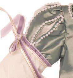 Close up of Matilda's ball gown - beautifully designed by Katya Wildman