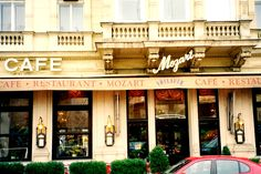 Cafe Mozart where I had lunch - Vienna - Austria Vienna Cafe, Danube River, Vienna Austria, Cruise, Europe, Lunch, Restaurant, Cruises, Eat Lunch