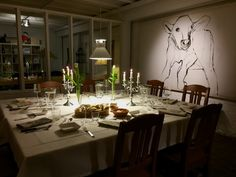 Table Set for Dinner at Hullkoff Garden - Sweden