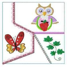 """This free embroidery design is from Design by Sick's """"Summer Owls"""" collection."""
