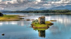 """Stalker Castle, Scotland Built on an island in Loch Linnhe in 1320, Stalker is incredibly hard to access at any time other than low tide. The castle is most famous for appearing in """"Monty Python and the Holy Grail."""""""