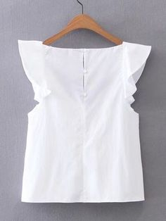 Shop V-Neckline Cap Sleeve Top online. SheIn offers V-Neckline Cap Sleeve Top & more to fit your fashionable needs. Pretty Outfits, Cute Outfits, Fashion Clothes, Fashion Dresses, Diy Kleidung, Mode Chic, Cap Sleeve Top, Blouse Styles, Casual Tops