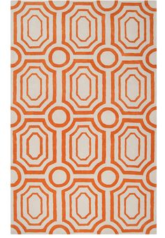 The Hudson Park Geometric Rug from designer Angelo Surmelis brings transitional style to your home. This hand tufted plush pile rug is in papyrus and pumpkin colors . The angelo:HOME collection from Surya, makes design fun, easy and affordable. Orange Area Rug, Orange Rugs, White Rug, White Area Rug, Hudson Park, Polyester Rugs, Contemporary Area Rugs, Hand Tufted Rugs, Geometric Rug
