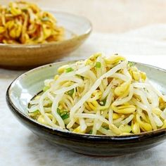 Korean Food Side Dishes, Vegetable Side Dishes, Filipino Dishes, Main Dishes, Bean Sprout Recipes, Cooking Recipes, Healthy Recipes, Weekly Recipes, Healthy Options