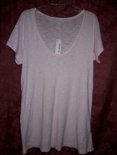 NWT Standard JAMES PERSE Deep Soft V Neck Tee T-Shirt 3 / L $95 Rose Pink #JamesPerse #Tee #TShirt #Top