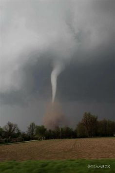 A Tornado touches down in Baxter Springs, Kansas, on Sunday, April 27, 2014