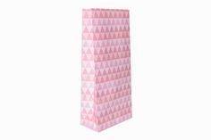 Pink geo treat bags.