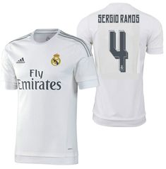2b19c5c4b Adidas sergio ramos real madrid authentic home match jersey 2015 16