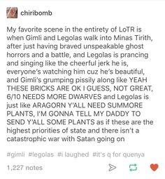 How Legolas and Gimli try to help Aragorn