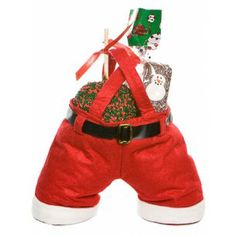Santa Pants Caramel Apple Gift Pack - For more information please visit: http://www.amysgourmetapples.com/gifts-by-season/christmas-gifts/santa-pants-gift-pack.html