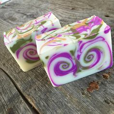 handmade soap by Hallowell Soap Works, strongarm swirl technique Soap Cake, Savon Soap, Bath Soap, Soap Packaging, Lotion Bars, Goat Milk Soap, Cold Process Soap, Soap Recipes, Home Made Soap