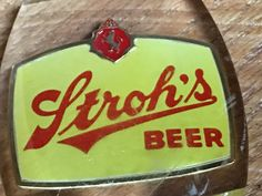 Stroh's Beer Vintag Tap Handle by LuckyLeesLabyrinth on Etsy