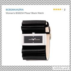 BCBGMAXAZRIA Women's Black Watch This is an amazing elegant watch!  Stylish BCBGMAXAZRIA in Black & Silver.  Excellent used condition! ❤️⏱⏱I have only worn the watch a couple of times.  I am a watch collector and keep special care! Fits ANY size wrist! This amazing watch comes with the original BCBGMAXAZRIA box, Case, and care booklet.  (The watch will need a new battery that will cost you usually between $5-$10)  BCBGMaxAzria Accessories Watches