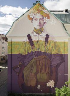 Obra do artista INTI na Suécia  //  O.bra Festival exalta a arte de rua em São Paulo - Agenda Cultural | INFOARTsp