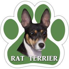 Rat Terrier Paw Shaped Car Magnet