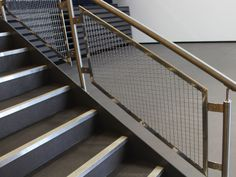 Concord S843-2 architectural mesh was specified for all the balustrade infill panels for the UTC's main internal staircase, Medway UTC
