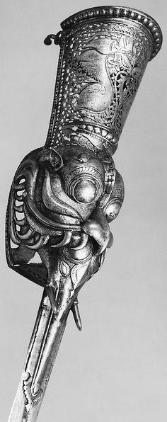 "Indian pata (gauntlet sword), 18th century, 35"" L.x 1.75"" W, Bequest of George C. Stone, 1935, Met Museum."