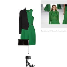 """""""Green - Black"""" by letterelle ❤ liked on Polyvore"""