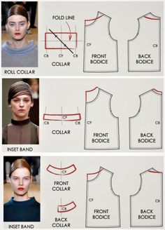 I like this top collar not sure what to call it looking forward to learning more about these necklines collars modelagen All Things Sewing and Pattern Making Fashion model illustration moda Ideas for 2019 Image gallery – Page 585186545310949913 – Arto Techniques Couture, Sewing Techniques, Pattern Cutting, Pattern Making, Dress Sewing Patterns, Clothing Patterns, Coat Pattern Sewing, Pants Pattern, Fashion Sewing