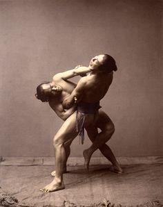 Rikishi (sumo wrestlers), ca. 1880