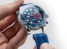 Omega - Seamaster Diver 300M America's Cup Chronograph | Time and Watches | The watch blog #omegawatches #americascup #omegaseamaster