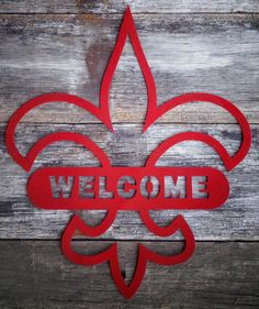 Fleur de lis Welcome Sign