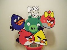 ANGRY BIRDS BIRTHDAY PARTY themed CENTERPIECE