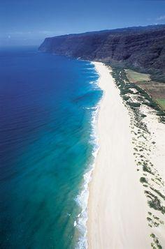 Polihale Beach, Kauai, Hawaii Choose Blue Hawaiian Helicopters on your next visit to Hawaii! www.bluehawaiian.com