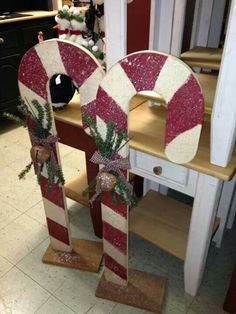 Wood candy canes
