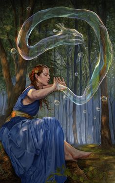 """Conjurer"" by Lindsey Look. Oil on board."