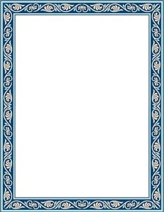 Boarder Designs, Frame Border Design, Page Borders Design, Banner Template Photoshop, Calligraphy Borders, Motifs Islamiques, Boarders And Frames, Certificate Design Template, Doodle Frames