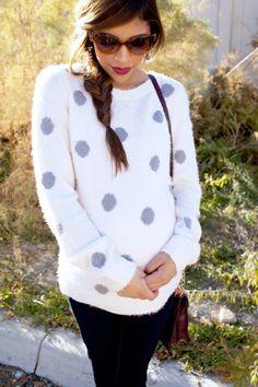 Envie de Fraises ♡ polka dots sweater <3