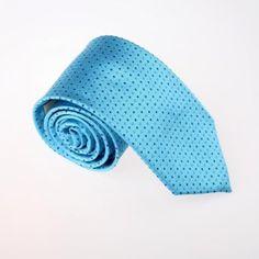 Amazon.com: Blue Polka Dots Woven Silk Tie Gift Box Set Deep Skyblue