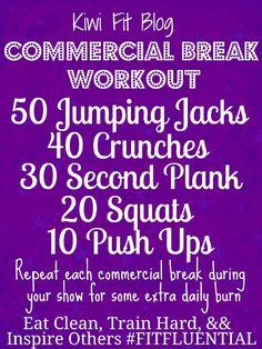 Commercial Break Workout!