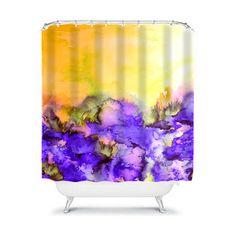 INTO ETERNITY Yellow Lavender Purple Fine Art by EbiEmporium, $89.00 #lemon #sunshine #purple #lavender #lilac #nature #pretty #floral #blue #flowers #whimsical #showercurtain #colorful #watercolor #art #pastel #design #homedecor #decorative #bathroom #elegant #feminine #fineart #abstract #painting