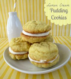 Crazy for Crust: Lemon Cream Pudding Cookies
