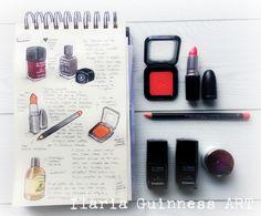 Sketchbook by Ilaria Guinness ART https://www.facebook.com/TKPLips.manga/ Mac Cosmetics - Chanel