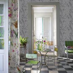 Sibylla Fuchsia Fabric   Designers Guild